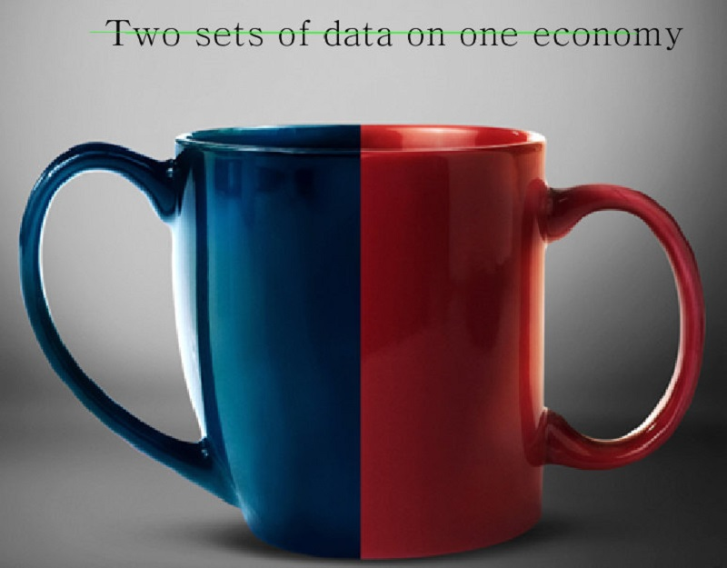Two sets of data on one economy?