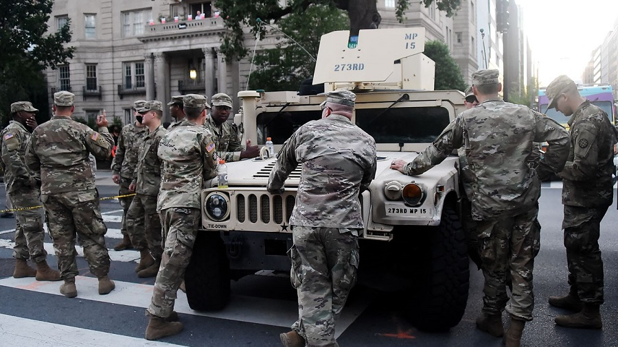 Washington troops test positive for coronavirus after protests