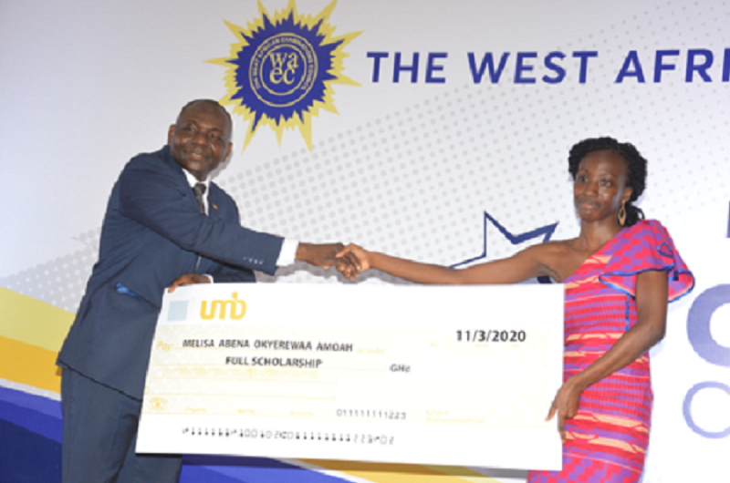 Overall Best WASSCE 2019 Student Receives Full UMB Scholarship